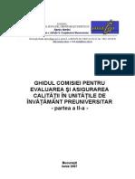 Ghidul CEAC in Unitatile de ant Preuniversitar-partea a II A