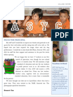 ASYC Newsletter Vol 1 (EL)
