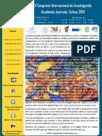 Invitación Congreso Internacional de Investigación Acade  miaJournals Celaya 2013