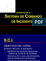 SCI Sistema de Comando de Incidentes