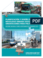 Planificación y Diseño de una Movilidad Urbana Sostenible