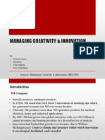 Managing Creativity & Innovation-tugas
