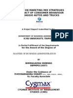 A Study on Marketing Mix Strategies and Impact of Consumer Behavior on Piaggio APE Autos and Trucks