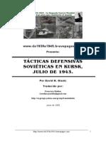 Tácticas defensivas soviéticas en Kursk - David Glantz