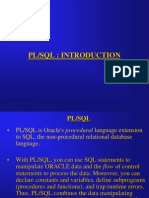PL/SQl Introduction