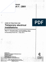 CP 88 (2001)Temporary Electrical Installations(Part 1)