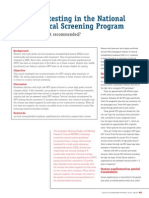 HPV Testing in National Cervical CA Screen When is It Recomended
