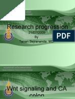 Research Progression Present