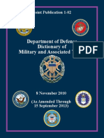Joint Publication 1-02 Dept. of Defense Dictionary of Military and Associated Terms (thru Sept. 2013) uploaded by Richard J. Campbell