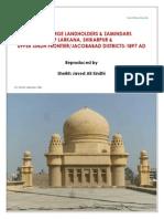 List of Large Landholders & Zamindars of Larkana Shikarpur & Upper Sindh Frontier Districts 1897