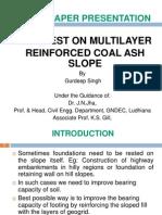 LOAD TEST ON MULTILAYER  REINFORCED COAL ASH SLOPE