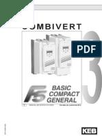 Este manual de instrucciones describe las series estándar del KEB COMBIVERT F5.