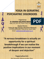 ROLE OF YOGA IN GERIATRIC PSYCHIATRIC DISORDERS