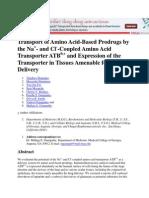 Transport of Amino Acid