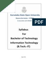 Btech It Detail Syallabus