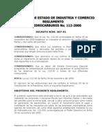 Decreto No.307-01 que aprueba el Reglamento para la aplicación de la Ley Tributaria de Hidrocarburos No. 112-00