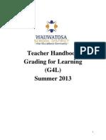 COMMON CORE Grading Handbook