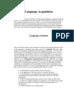 1 .Language Acquisition