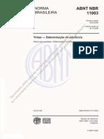 ABNT NBR 11003 Tintas — Determinação da aderência + errata