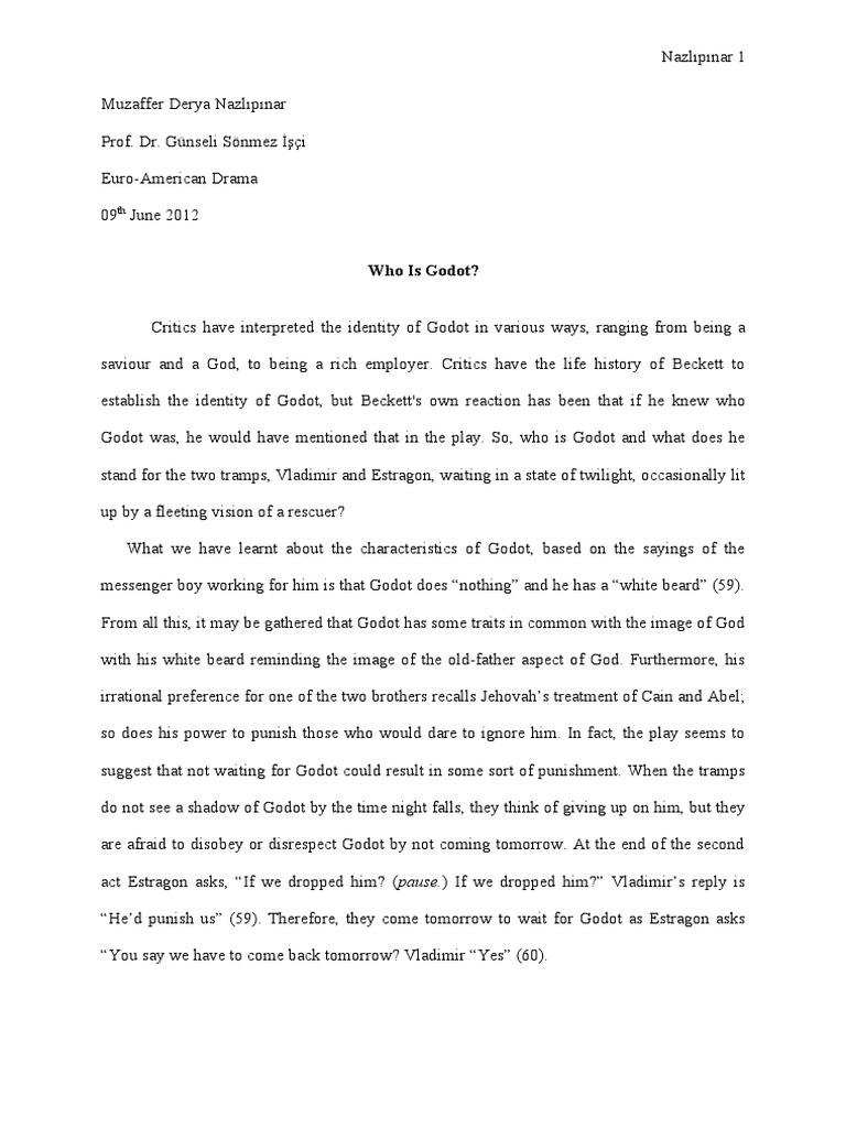 dissertation en attendant godot beckett