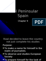 Rizal Peninsular Spain