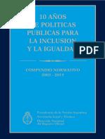10 años de políticas públicas para la inclusión y la igualdad