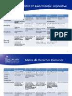 Matriz de Gobernanza, DDHH y Practicas Laborales