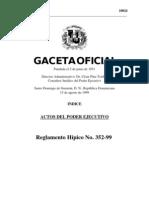 Reglamento Hípico No. 352-99