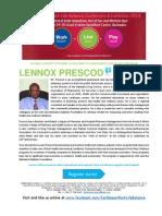 Caribbean Work Life Balance Conference & Exhibition 2014 BIO LENNOX PRESCOD
