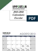 KIPP STAR Calendar 2013-14 Espanol