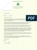 Jeremy Browne's letter to Nick Clegg