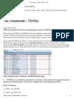 Tax Procedures – TAXINJ _ SAP FICO Docs