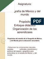Geografia de Mexico y Del Mundo Presentacion