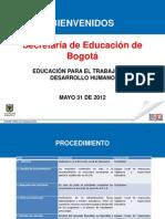 Educacion Para El Trabajo y El Desarrollo Humano Simon