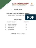ICS Report On Onkar Furnitech