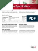 CQG Trader System Specs