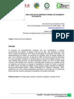Indústria Cearense - Uma Análise do Emprego Formal no Segmento Calçadista