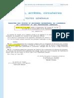 Arrêté du 9 mai 2007 - Locaux des professions libérales