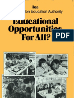Educational Opportunities for All?