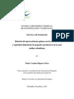 Determinacion de La Relacion Existente Entre El Agroecosistema