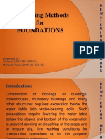 Dewatering Methods for FOUNDATIONS