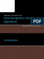 Face Detection via PCA