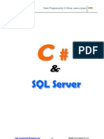 Manual de C Sharp con SQL Server 2005  paso a paso