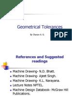Geometrical Tolerences