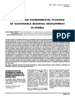 Spatial and Environmental Planning of Sustainable Regional Development in Serbia