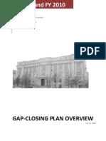 2009 Gap-Closing Narrative Summary