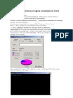 Requisitos e Recomendações para a instalação do Active Directory