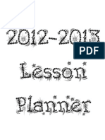 All in One Teacher Lesson Planner