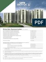 unihomes price list new