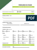Formulário de Cotação Empresarial